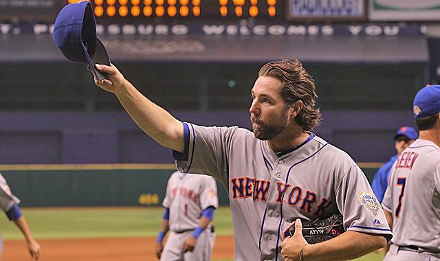 Dickey says his knuckleball is a 'living thing' that has taught him about himself. (US Presswire)