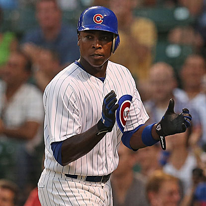 Alfonso Soriano connects for two home runs and collects a career-high five RBI in the Cubs' victory.  (Getty Images)