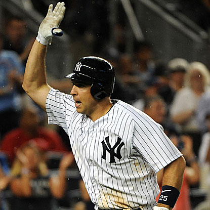Mark Teixeira's multihomer game for the Yankees is the 36th of his career and third this season.  (Getty Images)