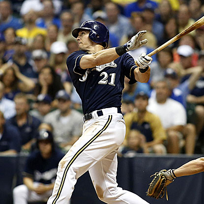 Cody Ransom's grand slam in the eighth inning, the first of his career, puts the Brewers past the Pirates.  (Getty Images)