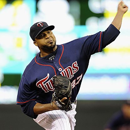 Francisco Liriano's 15 strikeouts are the second most in Twins' history behind Johan Santana's 17 in August 2007.  (Getty Images)