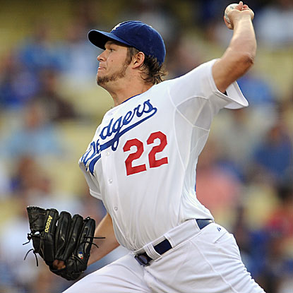 The Dodgers' Clayton Kershaw allows one run and strikes out six in six innings to defeat the Padres.  (US Presswire)