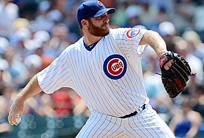 Ryan Dempster matches the Cubs' record with a 33-inning scoreless streak, joining Ken Holtzman who did it in 1969. (US Presswire)
