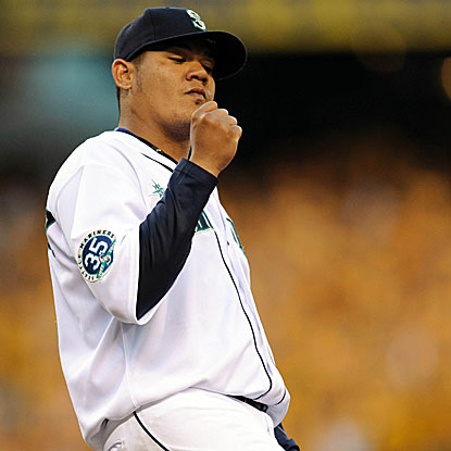 The Mariners' Felix Hernandez shuts out the Rangers and lowers his ERA to 1.40 over his last six starts.  (US Presswire)