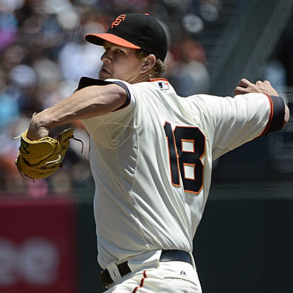 The Giants' Matt Cain allows one run in 6 1/3 innings to beat the Astros and snap a three-game winless streak.  (Getty Images)