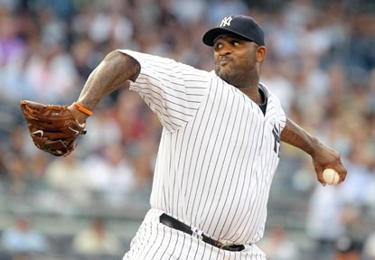 In his first outing in 24 days, CC Sabathia doesn't miss a beat. He throws 66 of 87 pitches for strikes.  (US Presswire)