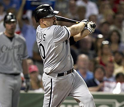 Kevin Youkilis hits his fourth home run with the White Sox, matching the four he had in 42 games with Boston earlier this year. (AP)