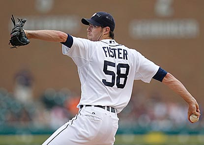Doug Fister retires 23 of the 26 batters he faces, including the final 11. His 10 strikeouts are three off his career high.  (Getty Images)
