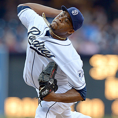The Padres' Edinson Volquez holds the Astros to just an infield single to earn his first career complete game and shutout.  (US Presswire)