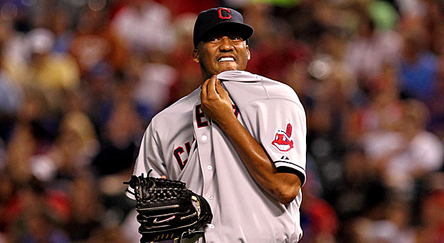 Formerly known as Fausto Carmona, the Indians' Roberto Hernandez is suspended for fraud. (US Presswire)