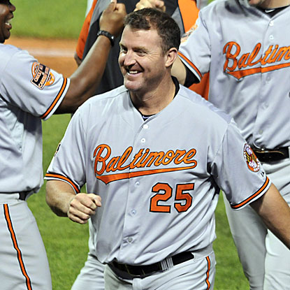 Jim Thome hits a two-run homer in the seventh inning to lift the Orioles to their fourth straight victory.  (US Presswire)