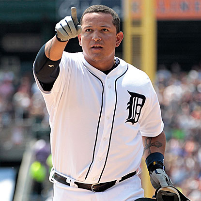 Miguel Cabrera hits his 300th HR to become the second Venezuelan player to do so after Andres Galarraga.  (Getty Images)