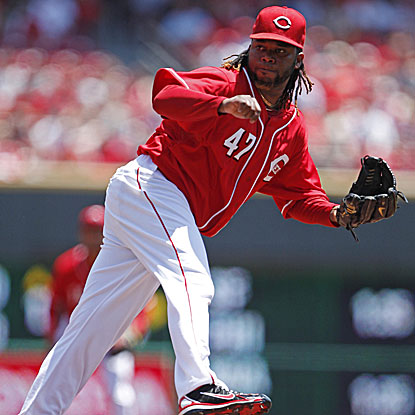 Johhny Cueto earns his 12th win, tying a career high, as the Reds finish off their home stand at 8-2. (US Presswire)