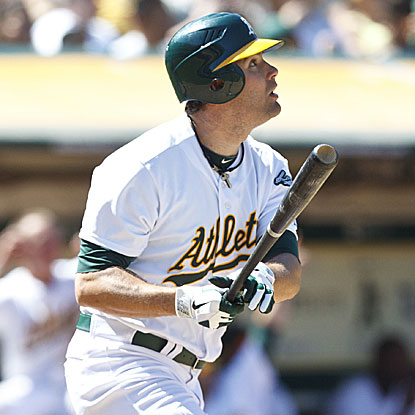 Seth Smith's ninth-inning home run ties the game and forces extra innings where the A's win it in 12.  (Getty Images)