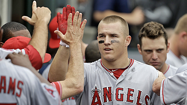 Trout is batting .357 with 15 homers and 47 RBI. (AP)