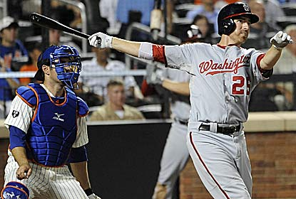 With this two-run homer, Adam LaRoche helps saddle R.A. Dickey with his first loss in three months. (AP)
