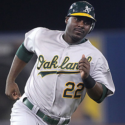 Chris Carter homers and drives in three runs as the A's win their seventh straight and improve to 16-2 in July.  (US Presswire)