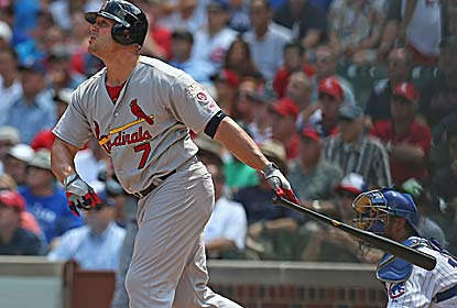 Matt Holliday goes 3 for 5 with a HR for St. Louis, the first team since '04 to homer in each of the first five innings. (Getty Images)