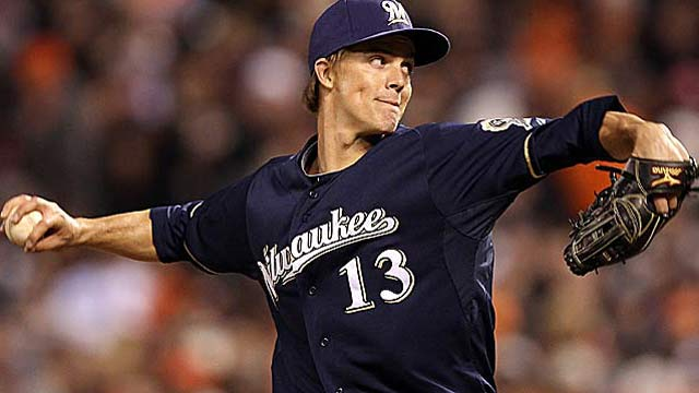 Zack Greinke prefers L.A. over Texas, which loses in its pursuit of the '09 AL Cy Young winner. (Getty Images)