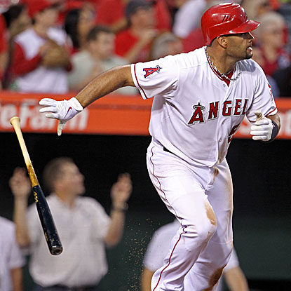 Albert Pujols' two-run double highlights the Angels' three-run third inning in their win against the Rays.  (AP)