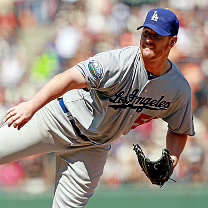 Chad Billingsley takes a two-hitter into the eighth as the Dodgers defeat the Giants and move within a game of first place.  (US Presswire)