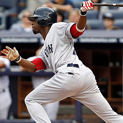 After the squandering a 6-1 lead, the Red Sox's Pedro Ciriaco comes through with an RBI triple in the ninth to beat the Yanks.  (US Presswire)