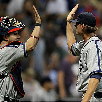 The Nationals' Tyler Clippard records two strikeouts in a perfect ninth inning to earn his 19th save.  (Getty Images)