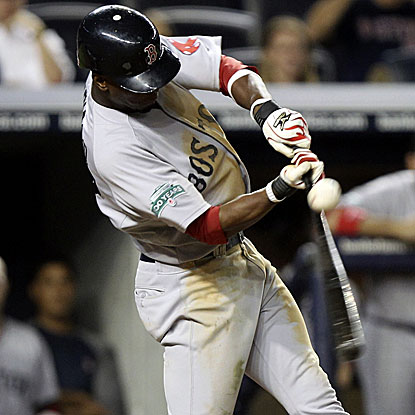 Pedro Ciriaco bloops a 10th-inning single into shallow right field to drive in the go-ahead run for the Red Sox.  (AP)