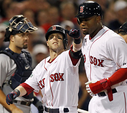Dustin Pedroia provides a two-run homer in the sixth to break a 2-run tie. (AP)