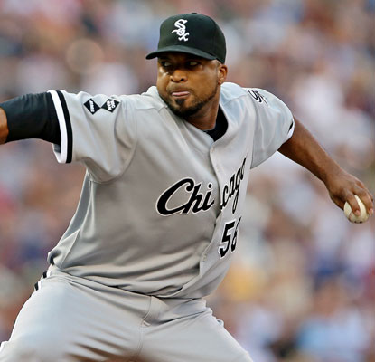 Francisco Liriano faces the Twins in his first start for Chicago, yielding two earned runs in six innings.  (US Presswire)