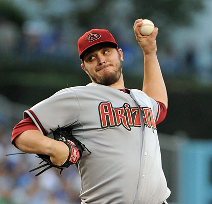 Rookie Wade Miley gives the Dodgers fits as he holds them to three hits and one run through eight innings. (Getty Images)