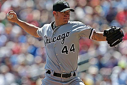 Jake Peavy, the 2007 NL Cy Young Award winner, allows just one earned run over eight innings against the Twins. (Getty Images)