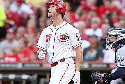 Ryan Ludwick drives in four for the second straight game as the Reds win for the 19th time in their past 22 outings. (Getty Images)