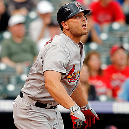 Matt Holliday gives the Cardinals an early lead with a two-run homer in the first inning. (Getty Images)
