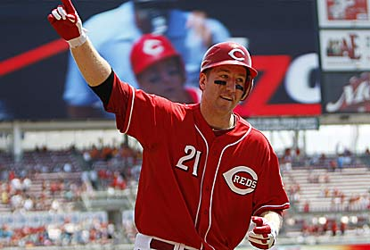 Todd Frazier, who drives in three, gets the beatdown started with his second-inning homer as Cincy gears up for the Pirates. (US Presswire)