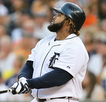 Prince Fielder blasts a home run and drives in four, upping his RBI total to 77 in his inaugural Tigers season.  (Getty Images)