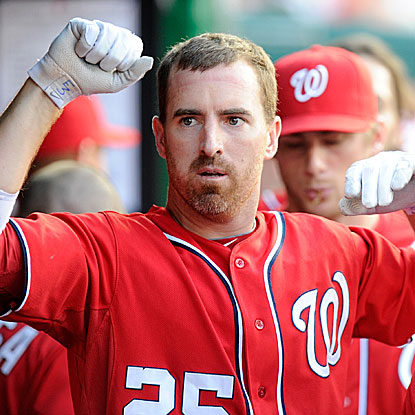 Adam LaRoche connects for two home runs, both off Marlins starter Mark Buehrle, in the Nationals' victory.  (Getty Images)