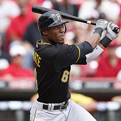 Starling Marte goes 2 for 4 with a big two-run triple in the fourth inning to help the Pirates defeat the Reds.  (Getty Images)