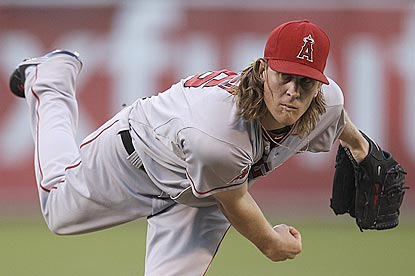 Jered Weaver becomes the sixth pitcher since 1961 to begin a season with at least 15 victories in his first 16 decisions.  (AP)