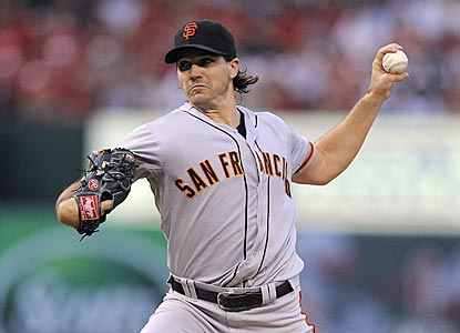 Barry Zito allows two solo home runs, but goes through a start without a walk for only the third time since 2009.  (US Presswire)