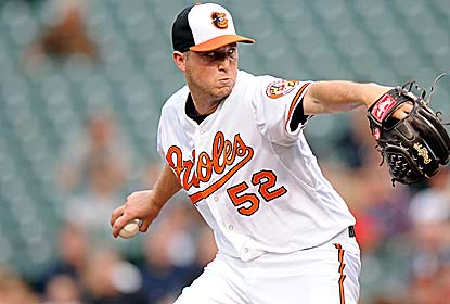 Steve Johnson, son of former O's pitcher Dave Johnson, gives up two runs over six innings in his second MLB appearance. (Getty Images)