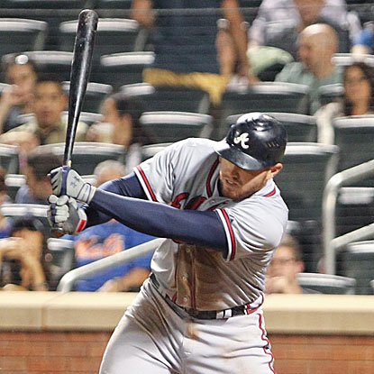 Freddie Freeman tallies five RBI in the first two innings of the game as the Braves cruise past the Mets.  (US Presswire)