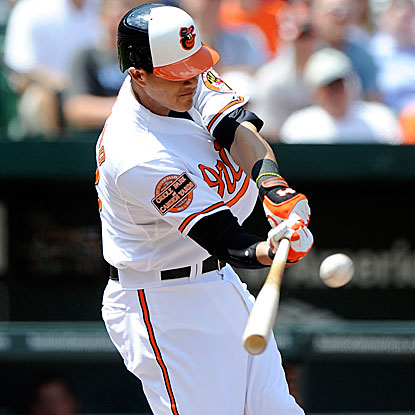 Manny Machado became only the fourth Oriole to get an extra-base hit in each of his first four games. (Getty Images)