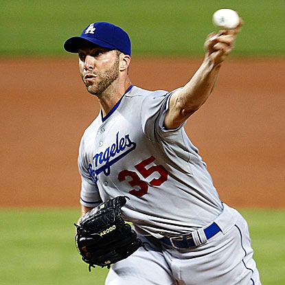 Chris Capuano takes a no-hitter into the seventh inning and strikes out nine in the Dodgers'  win over the Marlins. (Getty Images)