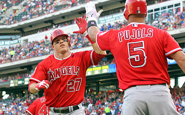 Trout is having a season that rivals Albert Pujols' scorching rookie year in 2001. (Getty Images)