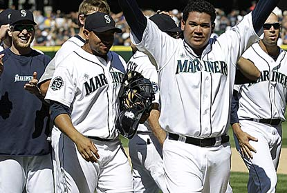 Felix Hernandez, who K's 12, makes the Rays perfect-game victims for the third time in the past four years. (AP)