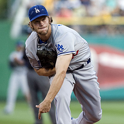 The Dodgers' Clayton Kershaw allows three runs on six hits in eight innings of work to win his fourth consecutive start. (US Presswire)