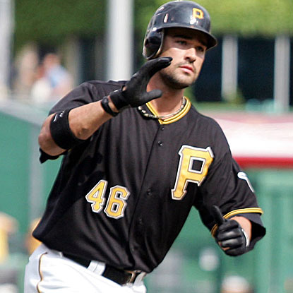 Garrett Jones connects for two three-run homers to drive in a career-high six runs in the Pirates' win. (US Presswire)