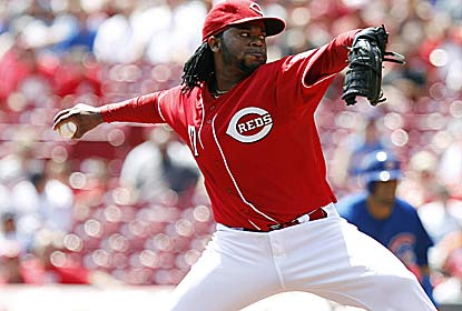 Johnny Cueto strikes out eight over eight innings in improving to 11-0 with a 1.62 ERA in 13 day games this season. (Getty Images)