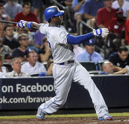 Hanley Ramirez belts the first of three straight home runs for the Dodgers and drives in four runs for the night.  (AP)